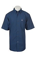 Ariat Pro Series Men's Gansen Plaid Short Sleeve Western Shirt