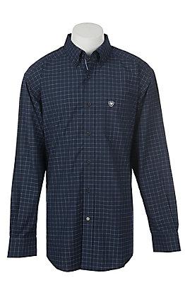Ariat Pro Series Men's Galdes Plaid Long Sleeve Western Shirt