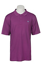 Ariat Men's Hidden Orchid Heat Series Tek Polo Shirt