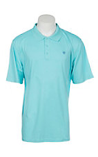 Ariat Men's Cool Aqua Heat Series Tek Polo Shirt