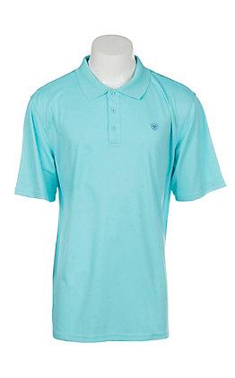 Ariat Men's Cool Aqua Heat Series Tek Polo Shirt