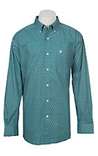 Ariat Men's Stretch Caidan Blue Bird Geo Print L/S Western Shirt