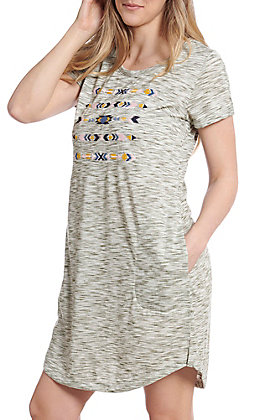 Ariat Women's Kay Grey Tee Embroidered Dress