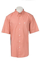 Ariat Men's Harsley Peach Print Stretch Short Sleeve Western Shirt