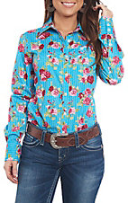 Ariat Women's REAL Kirby Floral Stretch Long Sleeve Western Shirt