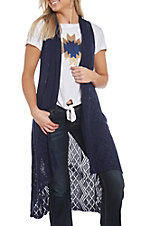 Ariat Women's Navy Blue Maxi Sweater Vest