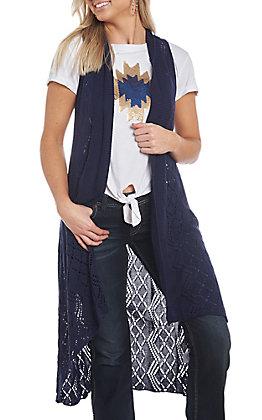 Ariat Women's Navy Blue Maxi Sweater Vest