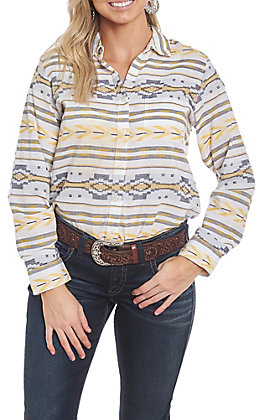 Ariat Women's Mike Jacquard Striped Woven Long Sleeve Western Shirt