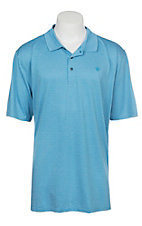 Ariat Men's Blue Jewel Heat Series Tek Polo Shirt