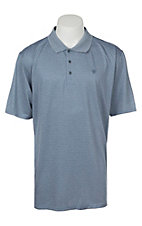 Ariat Men's Fade Bright Indigo Heat Series Tek Polo Shirt