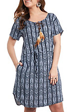 Ariat Women's Navy Blue Nova Print Dress
