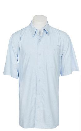 Ariat Ventek Men's Solid Blue Short Sleeve Shirt
