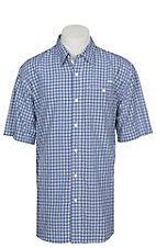 Ariat Ventek Men's Plaid True Blue Short Sleeve Shirt