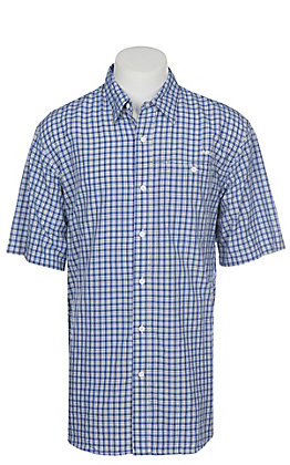 Ariat Ventek Men's Plaid True Blue Short Sleeve Shirt