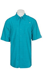 Ariat Ventek Men's PLaid Bondi Pool Short Sleeve Shirt