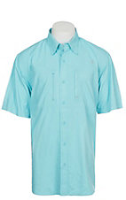 Ariat Ventek Men's Solid Cool Aqua Short Sleeve Shirt