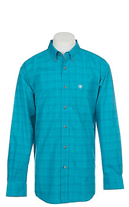 Ariat Pro Series Fairbanks Plaid Long Sleeve Western Shirt