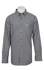 Ariat Pro Series Men's Fatino Plaid Long Sleeve Western Shirt