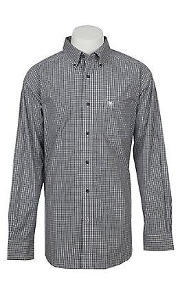 Ariat Pro Series Men's Fatino Plaid Long Sleeve Western Shirt