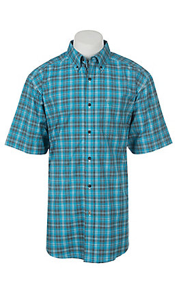 Ariat Pro Series Men's Fearson Plaid Short Sleeve Western Shirt