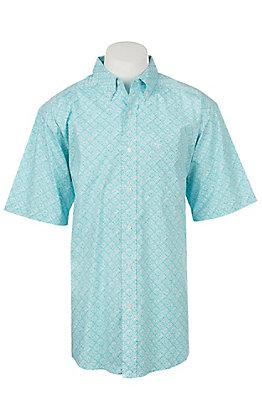 Ariat Men's Fenix Short Sleeve Stretch Print Western Shirt