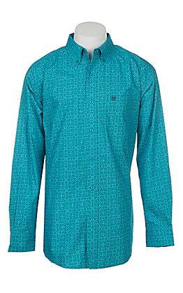 Ariat Men's Alcosta Fennessey Fitted Blue Print Western Shirt