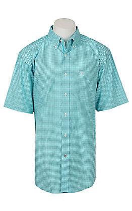 Ariat Pro Series Fergus Plaid Short Sleeve Western Shirt