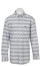 Ariat Men's Frasier White Print Long Sleeve Western Shirt