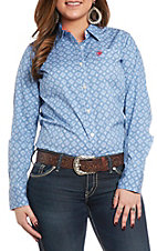 Ariat Women's REAL Kirby Amparo Print Stretch Long Sleeve Western Shirt