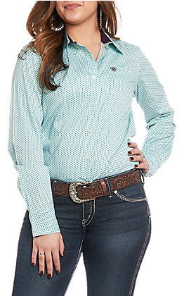 Ariat Women's REAL Kirby Print Stretch Long Sleeve Western Shirt