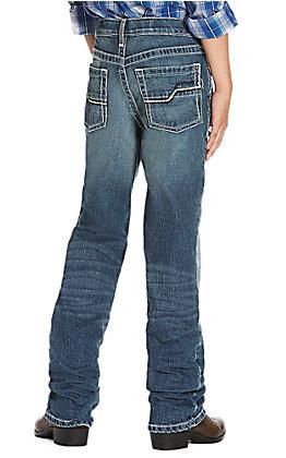 Ariat Boys' B5 Truckee Snakebite Slim Straight Leg Jeans