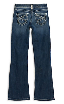 Ariat R.E.A.L. Denim Girls' Dresden Entwined Boot Cut Jeans