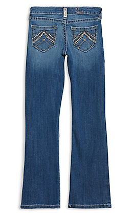 Ariat R.E.A.L. Denim Girls' Eleanor Whipstitch Boot Cut Jeans