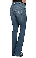 Ariat R.E.A.L Denim Women's Jasmin Eleanor Mid-Rise Boot Cut Jeans