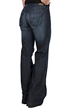 Ariat Women's Lyric Celestial Mid Rise Wide Leg Dark Wash Trouser Jeans