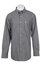 Ariat Men's Pro Series Black Abilene Checkered Long Sleeve Western Shirt