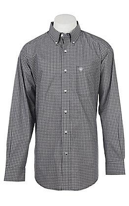 Ariat Men's Pro Series Black Abilene Checkered Long Sleeve Western Shirt