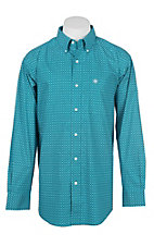 Ariat Cavender's Exclusive Men's Atomic Blue Albarado Western Shirt