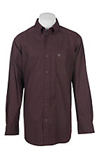 Ariat Men's Cavender's Exclusive Stretch Albarado Malbec Print L/S Western Shirt