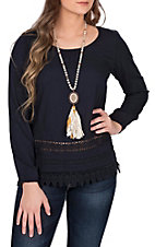 Ariat Women's Navy Blue Bengi Fashion Top