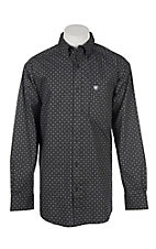 Ariat Men's Cavender's Exclusive Stretch Bamford Black Print L/S Western Shirt