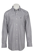 Ariat Men's Cavender's Exclusive Burton Ebony Stretch Print Long Sleeve Western Shirt - Big & Tall