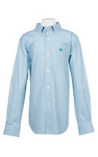 Ariat Boys Cavender's Exclusive Lucky White and Turquoise Stretch Print Long Sleeve Western Shirt