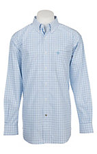 Ariat Pro Series Men's Cavender's Exclusive Chapman Plaid Print L/S Western Shirt - Big & Tall