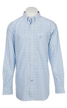 Ariat Pro Series Men's Cavender's Exclusive Chapman Plaid Print L/S Western Shirt