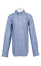 Ariat Boys Cavender's Exclusive Zilverton Blue Stretch Print Long Sleeve Western Shirt