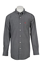 Ariat Cavender's Exclusive Men's Navy Mitch Geo Print Western Shirt