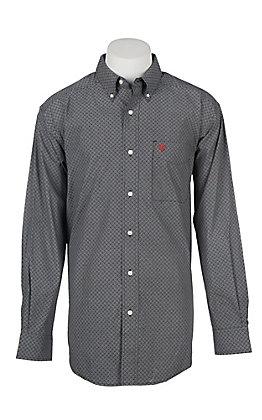 Ariat Cavender's Exclusive Men's Navy Mitch Geo Print Western Shirt