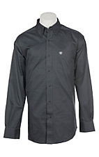 Ariat Men's Cavender's Exclusive Grey Solid Twill Western Shirt