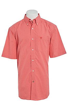 Ariat Pro Series Men's Hibiscus Plaid Short Sleeve Western Shirt
